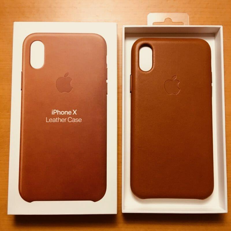 iPhone X 純正レザーケース