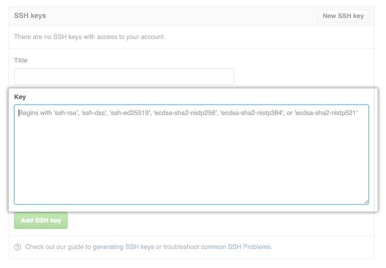 GitHubの公開鍵の登録